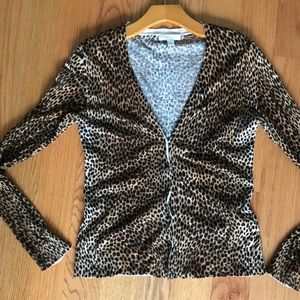 New York & Co Leopard print Cardigan • button up